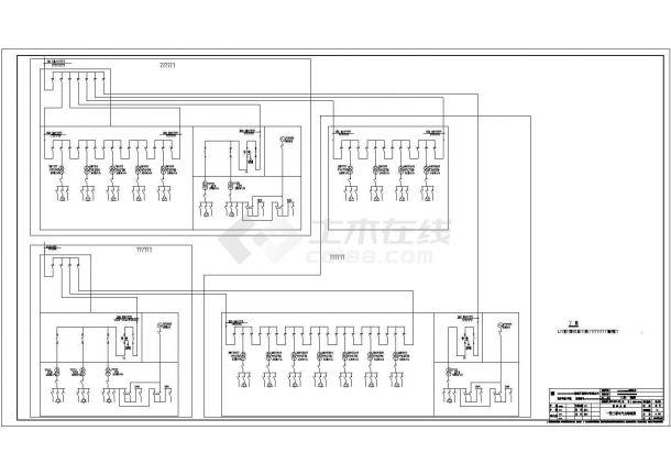 某大楼高/低压系统/柴油发电机电气全套图纸-图一