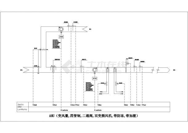 施耐德楼宇自控资料--HVAC及其他设备接口(CAD图)1-图一