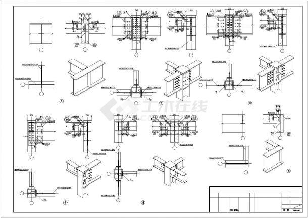 【四川】某钢结构大门结构设计施工图纸-图二