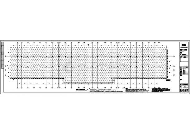 某县城4层教学楼框架结构设计施工图-图一