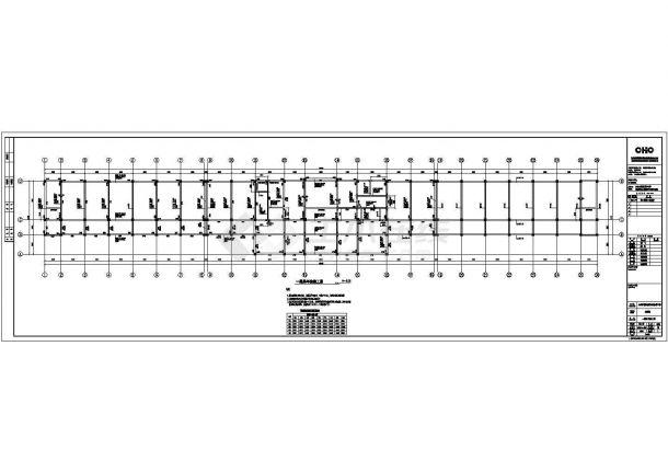 某县城4层教学楼框架结构设计施工图-图二