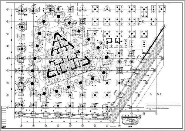 【安徽】某框筒结构超高层商住楼结构设计图-图一