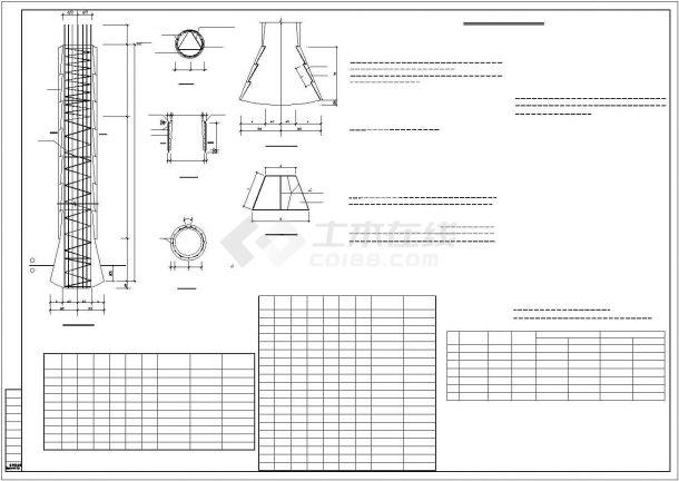 【安徽】某框筒结构超高层商住楼结构设计图-图二