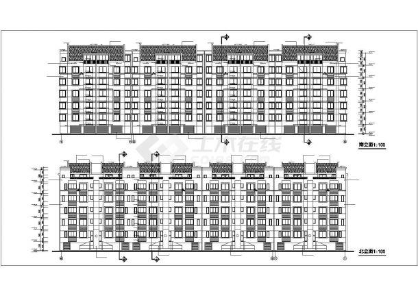 高新区涑河居住区某多层住宅楼建筑设计图-图二