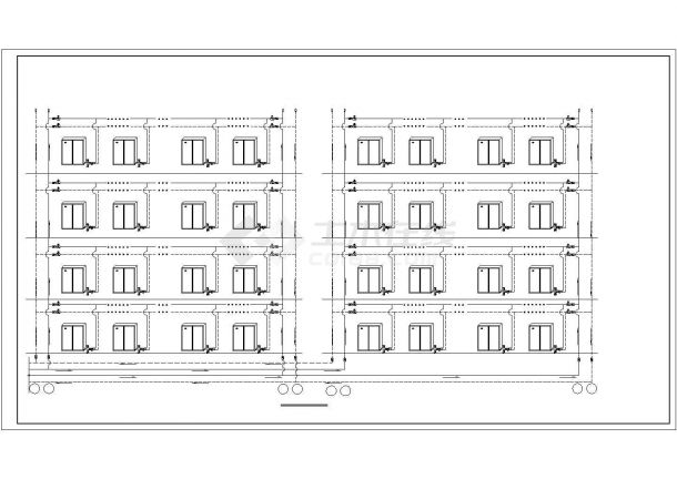 恒温恒湿精密空调制冷机房布置图及原理图-图二