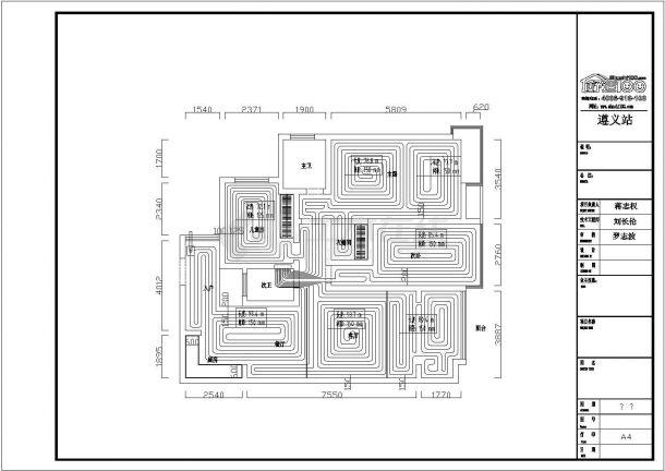 某家庭地板辐射采暖施工图-图一