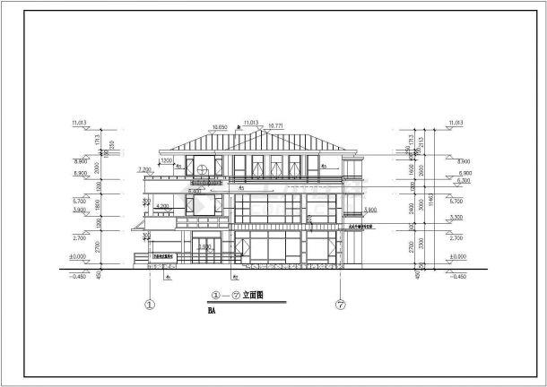 某三层经典别墅样板房设计施工图-图一