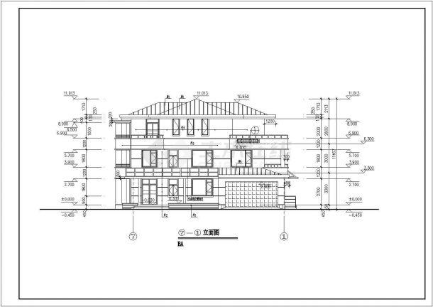 某三层经典别墅样板房设计施工图-图二