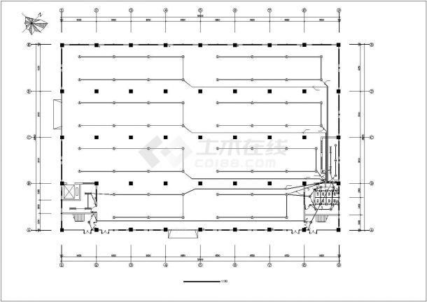 某地工业厂房电气设计图(共7张)-图一