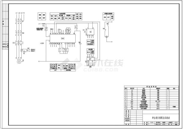 消防自控系统消火栓泵常用控制原理图-图二
