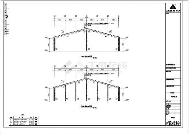 某单层厂房结构设计图(框架结构)-图二