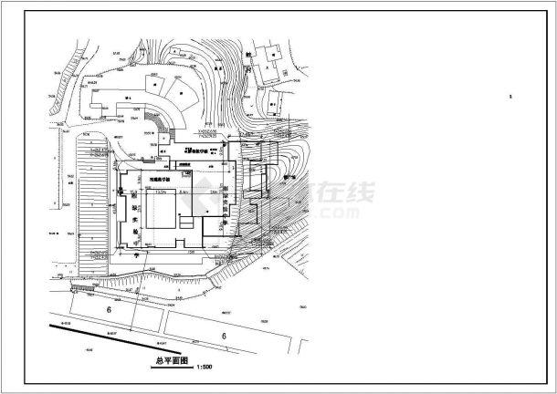 某中学教学楼建筑设计cad图纸图片