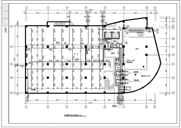 某高层商业办公综合楼给排水施工图纸-图一