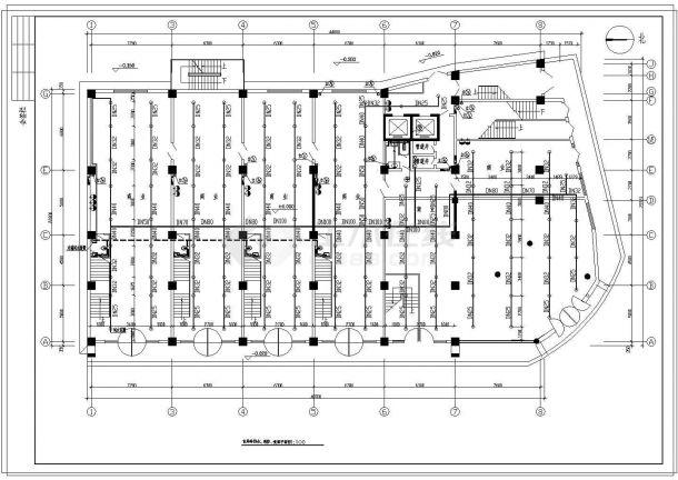 某高层商业办公综合楼给排水施工图纸-图二