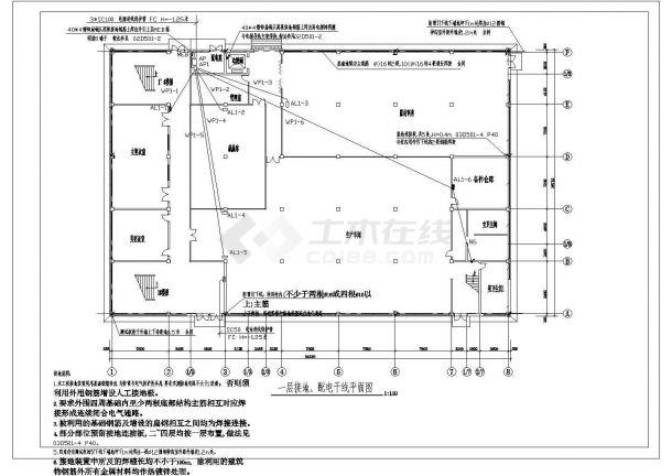 四层工业厂房电气图(含电气设计说明)-图二