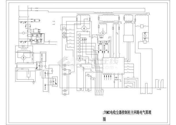 70M2电收尘器控制柜主回路电气控制原理图-图一