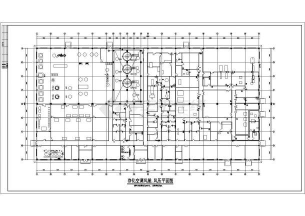 某药厂空调通风详细图纸(共13张)-图一