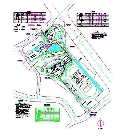 【安徽】某学校水电管线综合图设计纸-图一