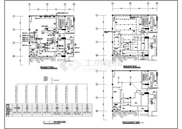 某全国连锁餐厅厨房电气设计图纸(共2张)-图二