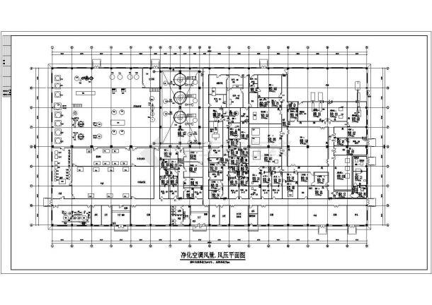 【南京市】某地区某药厂空调通风图纸-图一