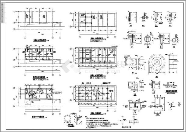 某循环水泵房及水池图纸(含设计说明)-图一