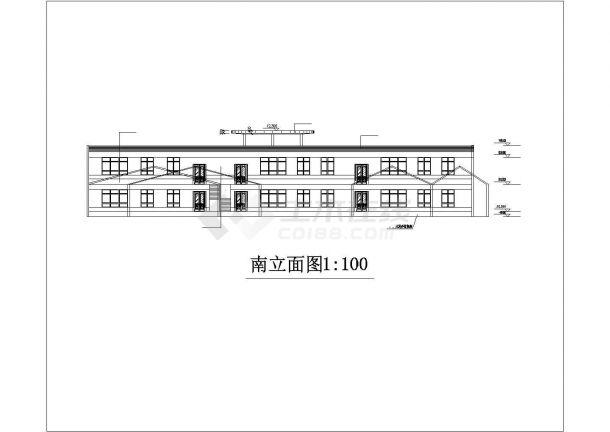 某城市小型幼儿园教育建筑设计图纸-图二