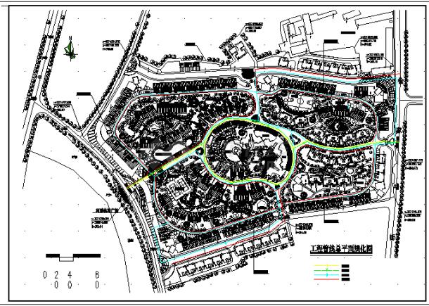 某地住宅小区工程管线规划设计总图纸-图一