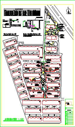 某市小区园林景观给排水设计施工图纸-图二