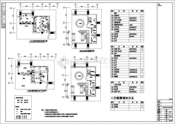 某地三层餐厅vip厨房电气设计图-图二