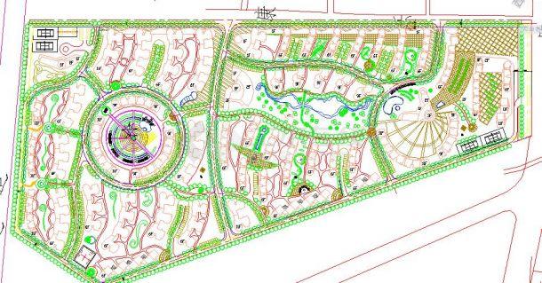 某地知名小区园林景观详细设计总图-图一