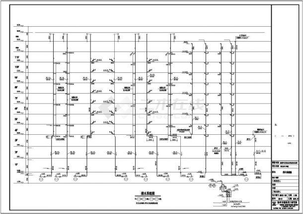 某地区高层住宅给排水带水箱设计图纸-图二