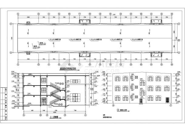 某地多层车间钢结构厂房设计施工图-图二