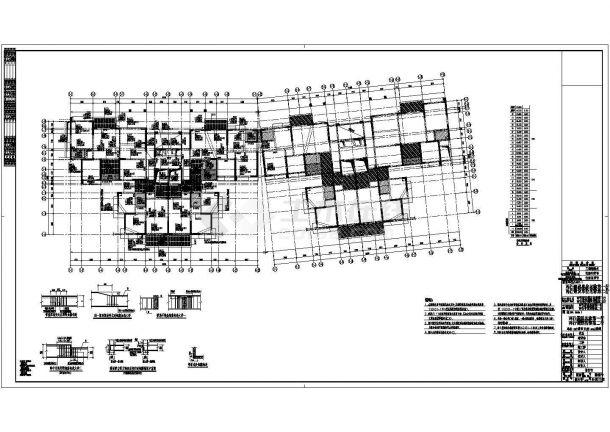 地上32层全现浇钢筋混凝土剪力墙结构住宅楼结构施工图-图一