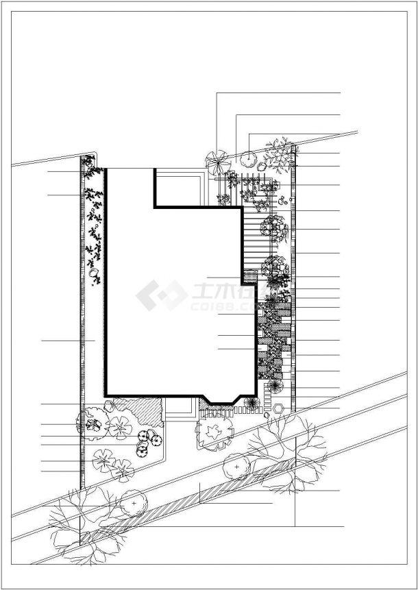 某地区别墅景观绿化设计平面施工图-图一