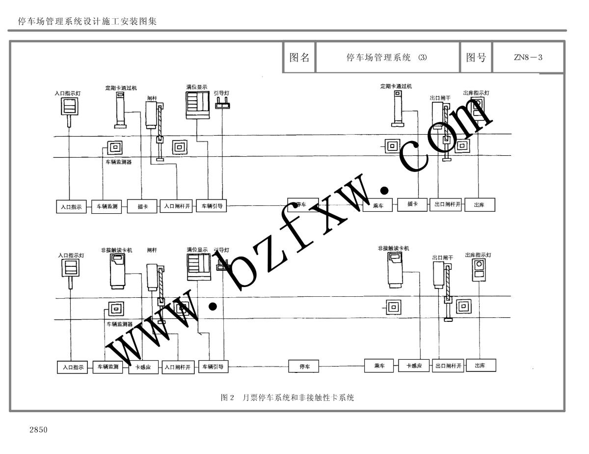 停车场管理系统设计施工安装图集ZN8图片1