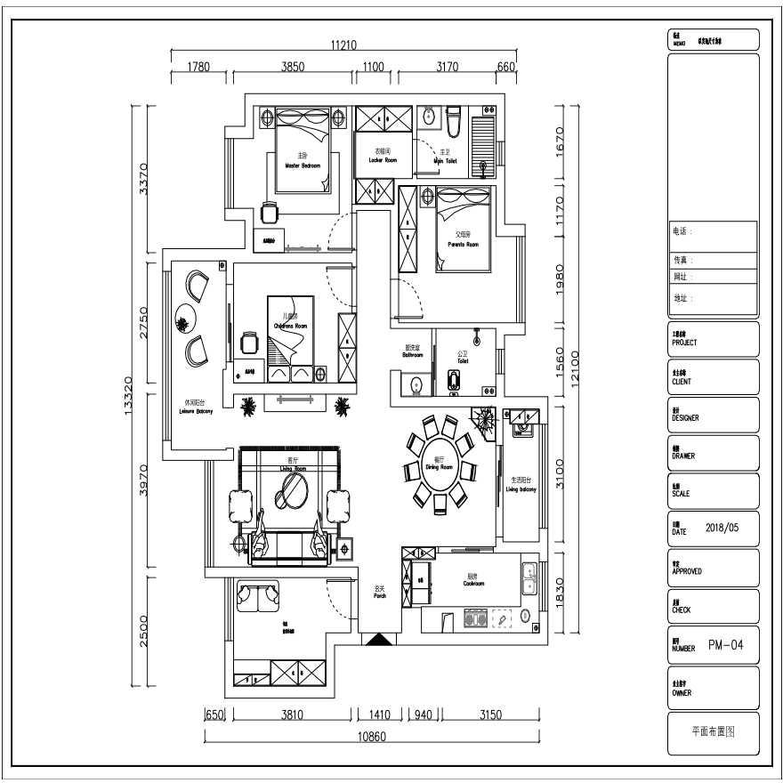 家装欧式客餐厅CAD设计图效果图图片1
