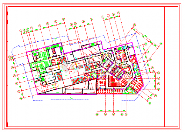 上海最新的五星酒店四季酒店建筑、景观施工图(含3D模型及效果图)-图二