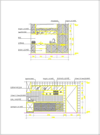 2017最新整理经典厨房立面图CAD设计详图-图二