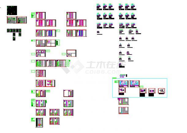 建筑智能化设计系统图及弱电系统设计cad图-图一