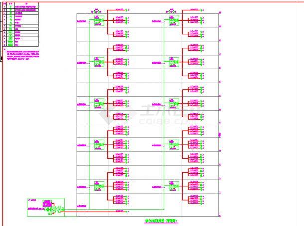 建筑智能化设计系统图及弱电系统设计cad图-图二