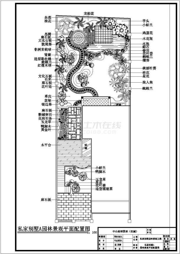 3栋别墅景观绿化施工设计cad平面布置图带效果图-图一