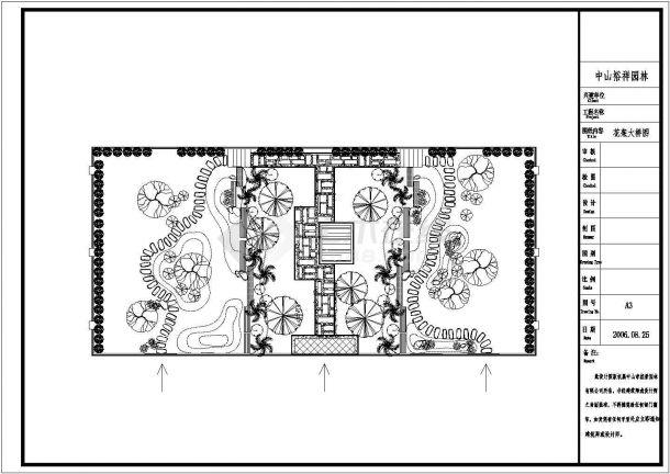 3栋别墅景观绿化施工设计cad平面布置图带效果图-图二
