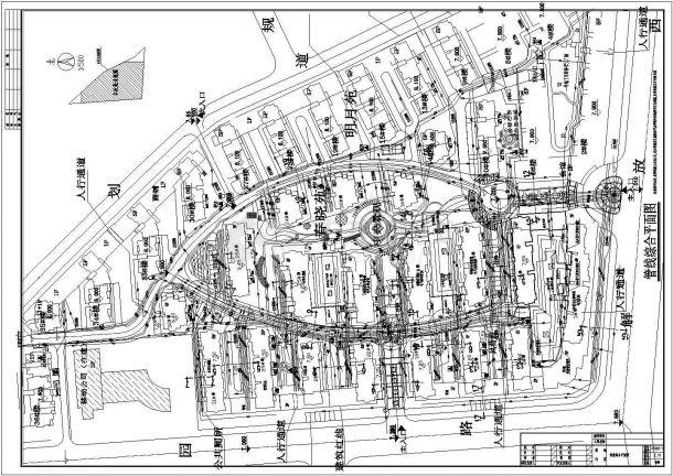 某小区室外给排水、电力、燃气、弱电管线综合平面图-图一