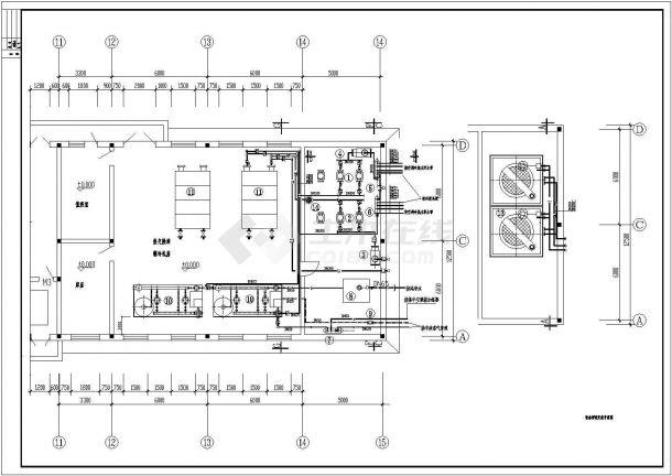 某地区空调制冷机房设计图纸(全套)-图一