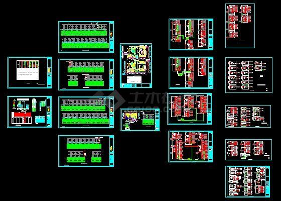 某高档住宅电气系统图-图一