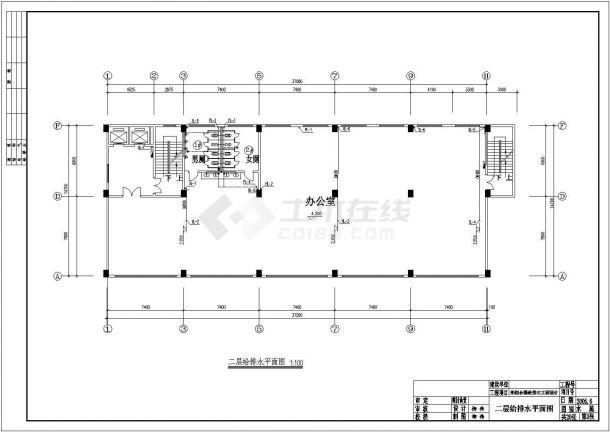 河南某地区综合大楼建筑给水排水设计工程cad施工图纸-图二