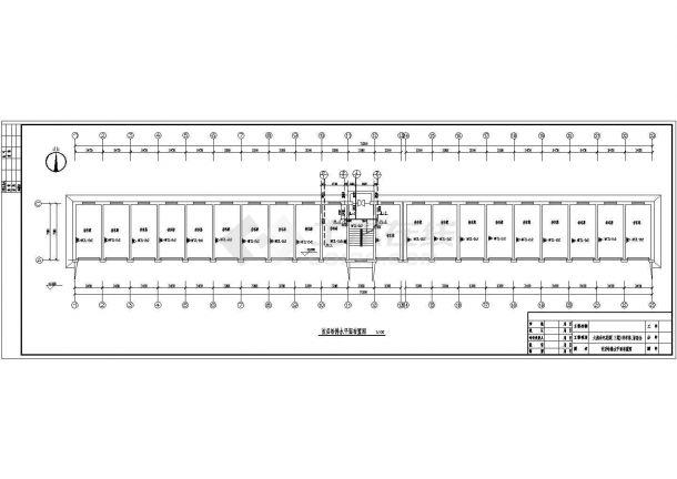 广东某地区一栋普通住宅楼建筑给水排水设计平面cad图纸-图一