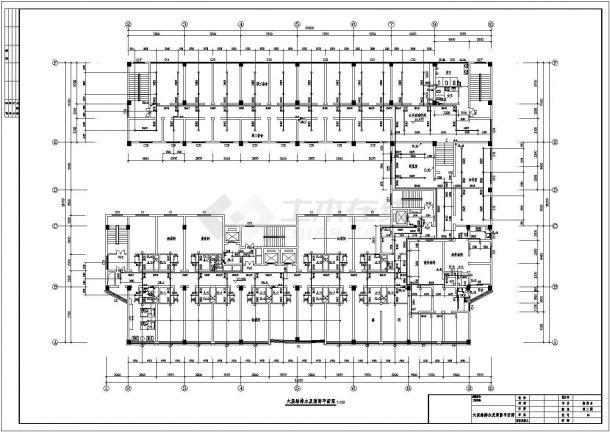 浙江某一整套高层酒店建筑给水排水设计cad施工图-图一