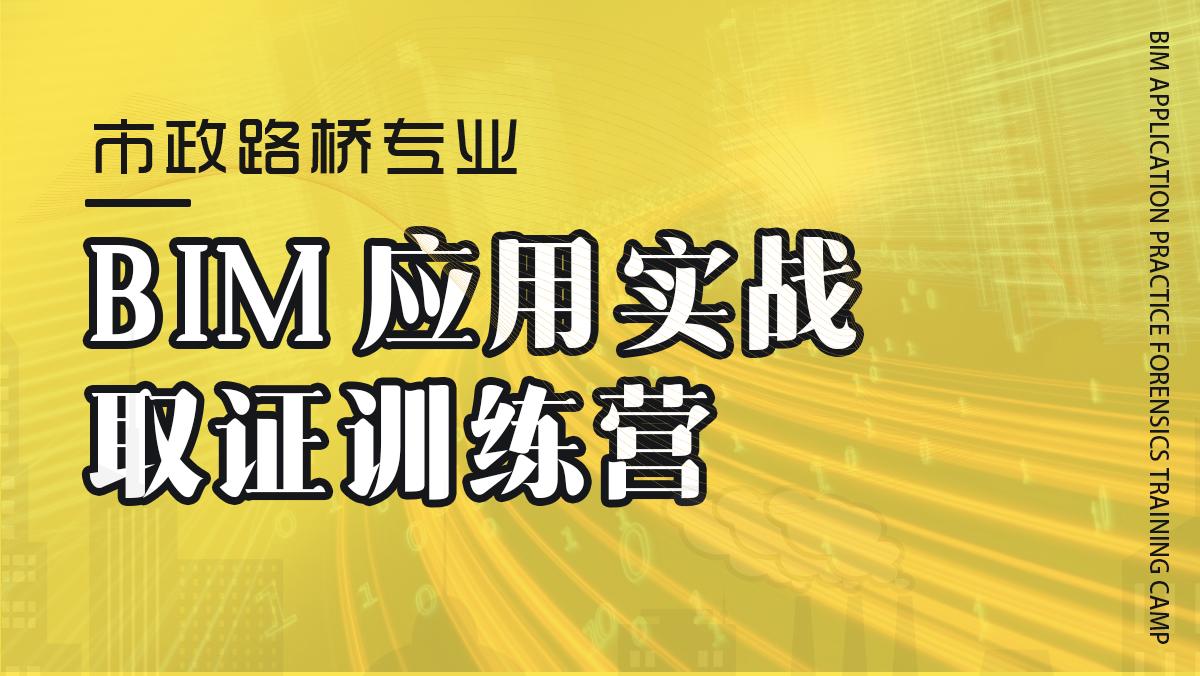 BIM应用实战取证训练营(市政路桥)-3月期