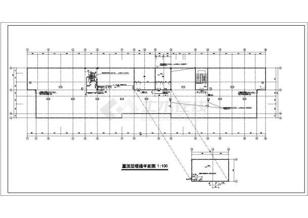 某地区建筑暖通设计空调通风施工图-图一